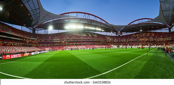 Lisbon, Portugal - February 27, 2020: Estadio Da Luz before match Europa League