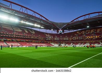 Lisbon, Portugal - February 27, 2020: Estadio Da Luz before match Europa League
