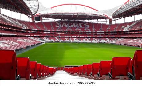 LISBON, PORTUGAL - JAN 27, 2019: Estadio da Luz (Stadium of Light), home stadium for the S.L. Benfica.