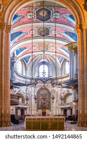 Lisbon, Portugal - July 15,2019: Main Altar of Se Patriarcal Cathedral in Lisbon, Portugal