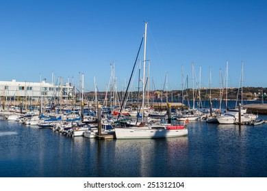 LISBON, PORTUGAL - JULY 30 : Yachts in Lisbon in a sunny summer day on July 30 2014 in Lisbon, Portugal