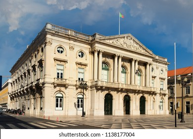 Lisbon, Portugal - July 9th, 2018: The Municipal Chamber or city hall building in Libon, Portugal.