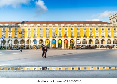 LISBON, PORTUGAL - JUN 9: the old town of Lisbon city pictured on June 9th, 2016, in Lisbon, Portugal. Lisbon is one of the major economical and touristic centre of Europe.