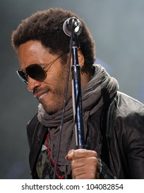 LISBON, PORTUGAL - JUNE 1: Lenny Kravitz  performing on stage in day 3 of Rock in Rio Lisboa June 1, 2012 in Lisbon, Portugal