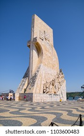 LISBON, PORTUGAL - JUNE 14, 2014: Monument of the Discoveries (Padrao dos Descobrimentos in Portuguese), located on the northern bank of Tagus River estuary in Lisbon.