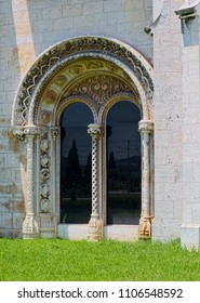 LISBON, PORTUGAL - JUNE 14, 2014: Architectural details of Jeronimos Monastery (Mosteiro dos Jeronimos in Portuguese), built in 1601 in Lisbon.