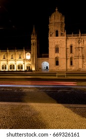 LISBON, PORTUGAL - June 2017 -View of the Jeronimos Monastery at the night