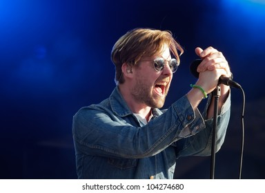LISBON, PORTUGAL - JUNE 3: Kaiser Chiefs performing on stage in day 5 of Rock in Rio Lisboa June 3, 2012 in Lisbon, Portugal