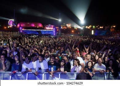 LISBON, PORTUGAL - JUNE 3:  View from the stage in day 5 of Rock in Rio Lisboa June 3, 2012 in Lisbon, Portugal