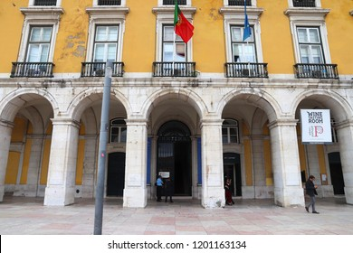 LISBON, PORTUGAL - JUNE 4, 2018: Portugese prime minister office in Lisbon, Portugal. Lisbon is the 11th-most populous urban area in the EU (2.8 million people).