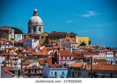 Lisbon Portugal looking at the Alfama District