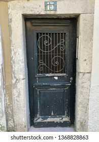 Lisbon / Portugal - March 19 2019: Interesting old doorway in Lisbon