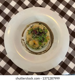 Lisbon / Portugal - March 19 2019: Cooked cod dish in Lisbon, Portugal