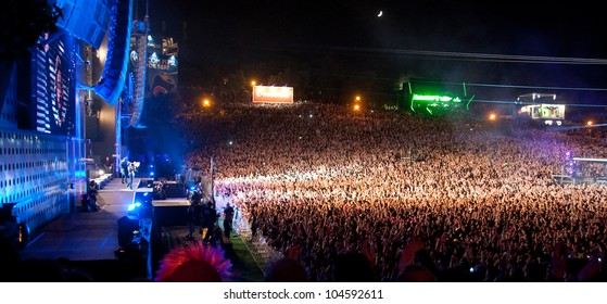 LISBON, PORTUGAL - MAY 26:  View of World stage in day 2 of Rock in Rio Lisboa May 26, 2012 in Lisbon, Portugal
