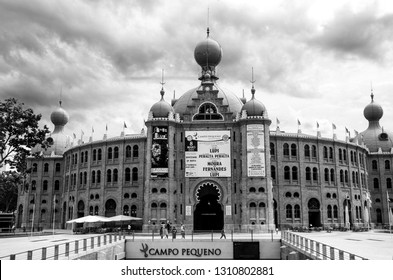LISBON, PORTUGAL - MAY 7, 2008: Portugal Campo Pequeno Bullring in Lisbon on May 7, 2008. After extensive renovation it reopened in 2006 and is used for concerts and other shows, such as a circus