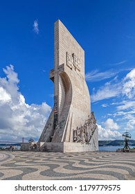 Lisbon, Portugal - November 05, 2017: Padrao dos Descobrimentos monument. The Sea Discoveries Monument commemorates the navigators who explored the oceans and continents and created globalism
