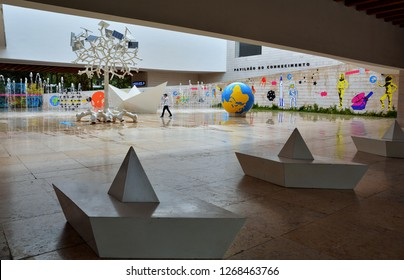 LISBON, PORTUGAL- NOVEMBER 2, 2017. The Interactive Science Museum with educational exhibits, cutting-edge technology and multimedia. Pavilion of Knowledge (Pavilhao do Conhecimentois or Ciencia Viva)