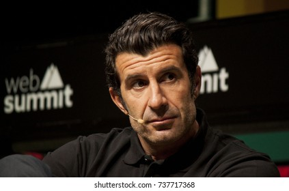 LISBON, PORTUGAL - NOVEMBER 2016: Former Portuguese footballer & co-founder of Dream Football, Luis Figo, discusses his new venture at Web Summit, Lisbon.