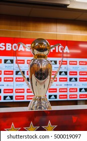 LISBON, PORTUGAL - OCT 17, 2016: Poruguese league Cup at the Estadio da Luz (Stadium of Light), home stadium for the S.L. Benfica. It was built for the EURO 2004