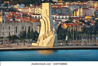 LISBON, PORTUGAL - October 02, 2014: Monument to the Discoveries  in Lisbon. Celebrates the Portuguese who took part in the Age of Discovery