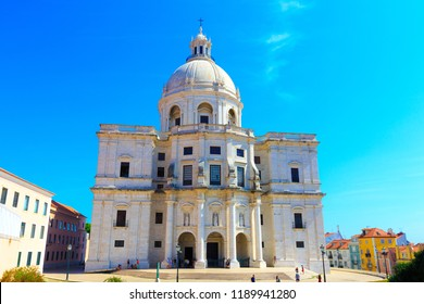LISBON, PORTUGAL - SEP 14, 2018: National Pantheon in Lisbon, Portugal in a beautiful summer day with blue sky.