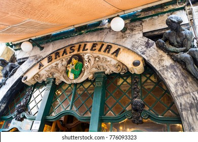 LISBON, PORTUGAL – September 25, 2017: Cafe A Brasileira, famous in the old quarter of Lisbon, opened in 1905 and has been the meeting point for intellectuals, artists, writers and free-thinkers