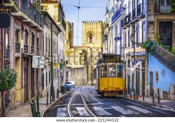 Tramway de Lisbonne, Portugal.