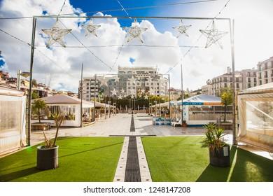 Lisbon, Portugal-Oct 30, 2018: Martin Moniz square in Lisbon in Portugal.