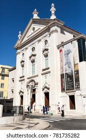 LISBON – September 25, 2017: Museum of Money is located in the former 18th century Church of Sao Juliao, next to the Municipal Square in Lisbon, Portugal