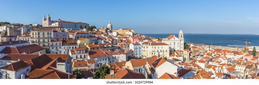 Lisbon skyline from alfama