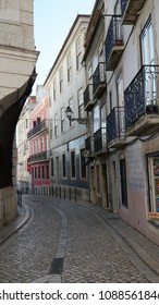 Lisbon street at afternoon
