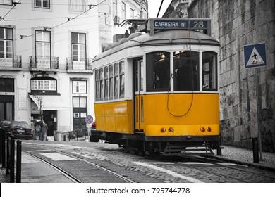 Lisbon tram, Portugal 2012