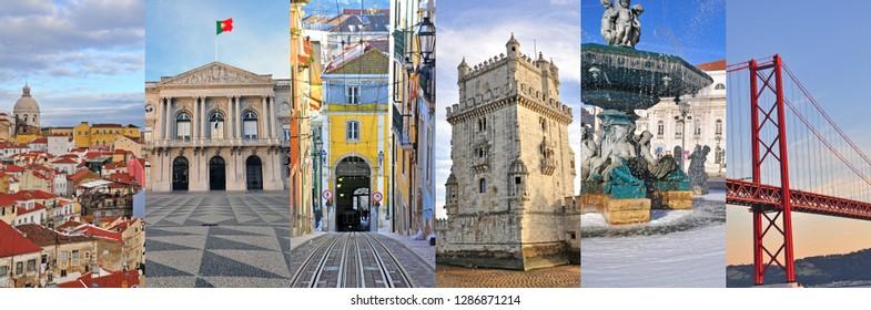 Lisbon travel collage