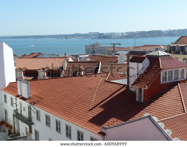 Lisbon / Lisbon view / picture showing the view over Lisbon, taken from St. Georges Castle, August 2016.