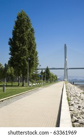"Lisbon Waterfront at the ""Vasco da Gama"" bridge over the river Tagus, on the Nations park - Expo - Location of the NATO Lisbon summit 2010"