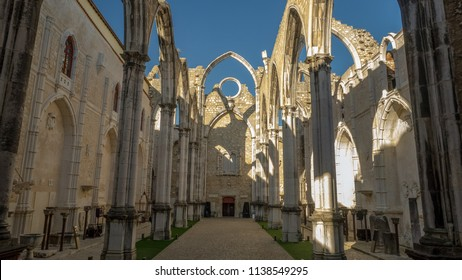 Lisbon/Portugal 06/06/18 The Convent of Our Lady of Mount Carmel  is a former-Roman Catholic convent located in the civil parish of Santa Maria Maior