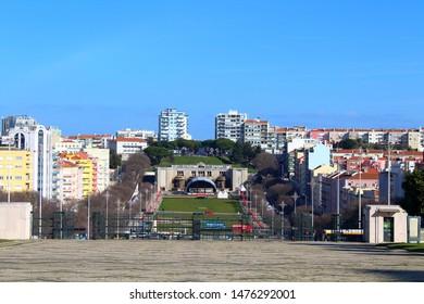Lisbon/Portugal- 2019: Alameda Dom Afonso Henriques in Lisbon, Portugal