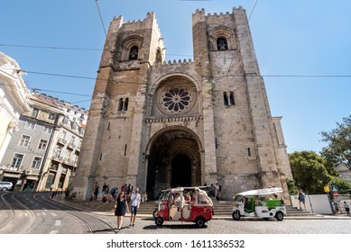 Lisbon/Portugal- December 5 2019: Dedicated to the Mother of God, Lisbon Se Cathedral is one of the city's gems and one of the most significant monuments in the country.