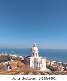 Lisbon/Portugal - March 10, 2019: Panteão in Lisbon Portugal