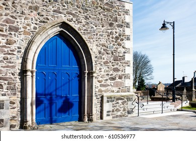 Lisburn, County Antrim, Northern Ireland - 27 March, 2017: Lisburn Cathedral Door