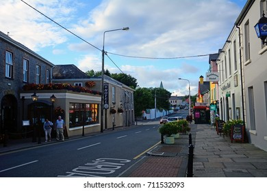 LISDOONVARNA, IRELAND - AUGUST 7: Town center on 7 August 2017 at Lisdoonvarna. Lisdoonvarna is a charming, small town in Ireland.