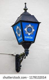 Lisdoonvarna, Republic of Ireland - August 19th 2018: A sign for the Gardai - the national Police service of the Repubic of Ireland.