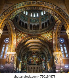 Lisieux, France - August 18, 2017: Basilica of St. Therese of Lisieux in Normandy France Europe