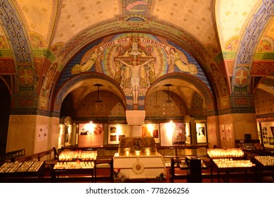 Lisieux; France - july 17 2017 : crypt of the Saint Therese basilica