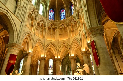 Lisieux; France - july 17 2017 : the Saint Pierre cathedral