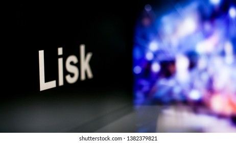 Lisk Cryptocurrency token. The behavior of the cryptocurrency exchanges, concept. Modern financial technologies.