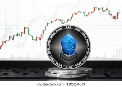 LISK (LSK) cryptocurrency; lisk coin on the background of the chart