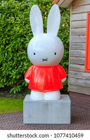 Lisse, Netherlands - April 25, 2018: Miffy the Rabbit at Keukenhof