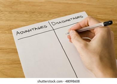 List Of Advantages And Disadvantages