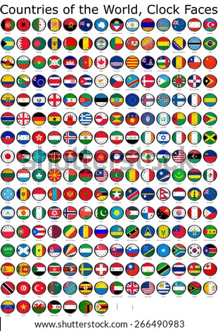 list countries world national flags set の写真素材 今すぐ編集
